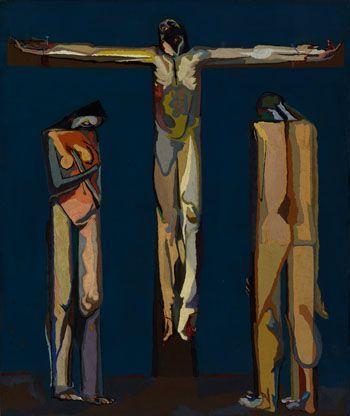 1951, Crucifixión con Adán y Eva de Alejandro Mieres en la Universidad de Oviedo