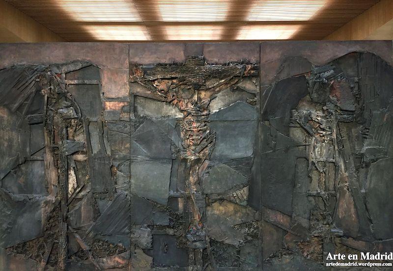 1961, Crucificado de Josep Maria Subirachs en el Convento de Padres Dominicos de Torrelodones