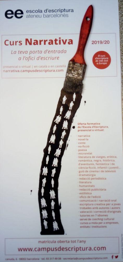 Curso 2019-20 de la Escola d'Escriptura de Barcelona (Ateneu Barcelonès)