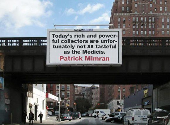 Patrick Mimran, poeta visual
