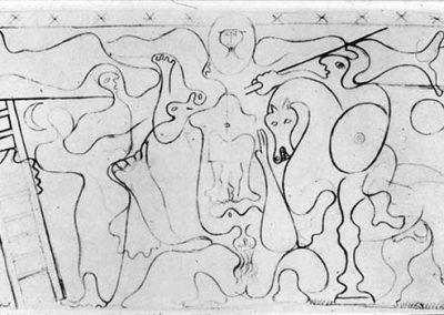 1938, Estudio Crucifixión de Pablo Picasso