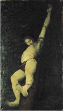 1951, Crucifixión de Mario Donizetti