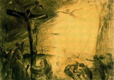 1886, Cristo agonizante de James Ensor