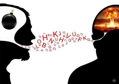 Conversación, fotomontaje de David Pérez Pol