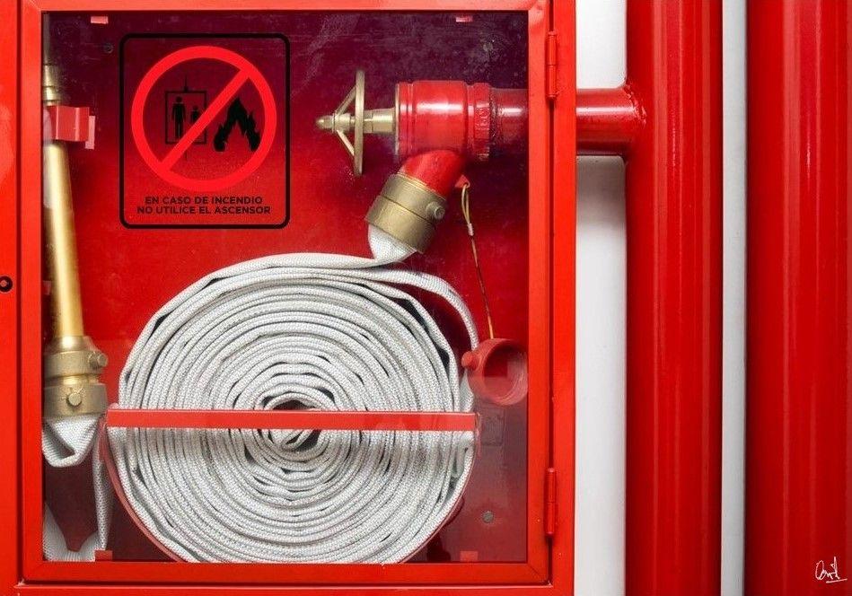 En caso de incendio, pintura digital