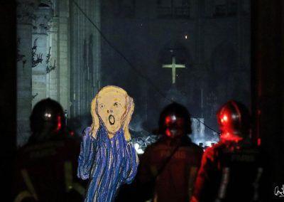 Notre Dame,, fotomontaje de David Pérez Pol