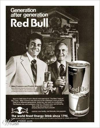 Nuevos productos y publicidad vintage: Red Bull