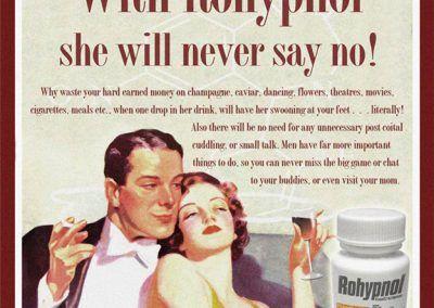 Nuevos productos y publicidad vintage: Rohypnol