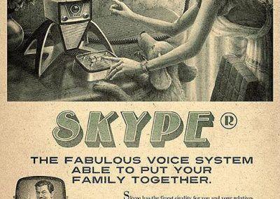 Nuevos productos y publicidad vintage: Skype
