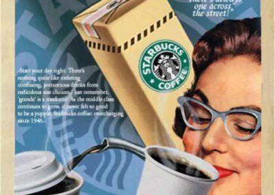 Nuevos productos y publicidad vintage: Starbucks