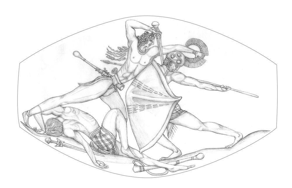 El Guerrero del Grifo, Pilos (Grecia), 1450 a.C.