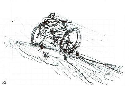 Tourmalet para principiantes dibujo de David Pérez Pol
