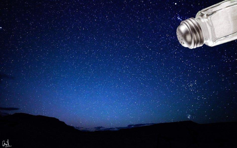 Fotomontaje de David Pérez Pol: Cielo estrellado
