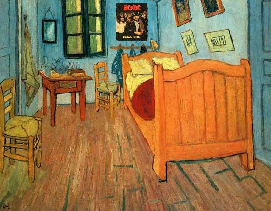 Fotomontaje de David Pérez Pol: La habitación de Arles