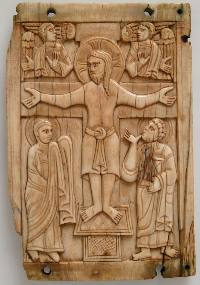 1060-70, Placa con Crucifixión (anónimo)