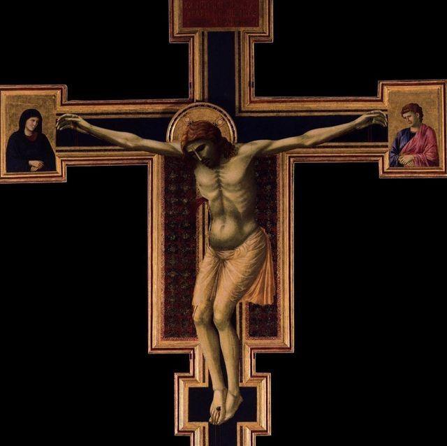 1290-1300, Crucifixión de Giotto di Bondone (Santa María Novella, Florencia)