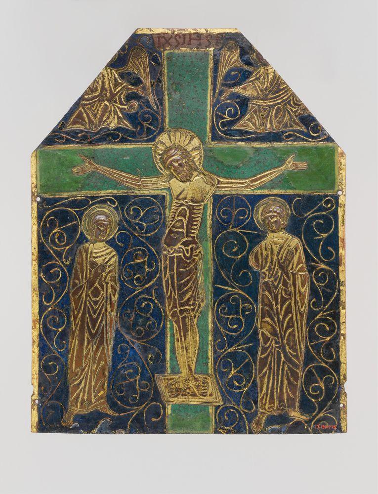 12??, Placa de la Crucifixión (anónimo) en Limoges, Francia