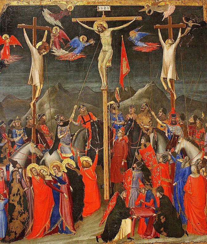 1330, Crucifixión de Giotto de Bondone