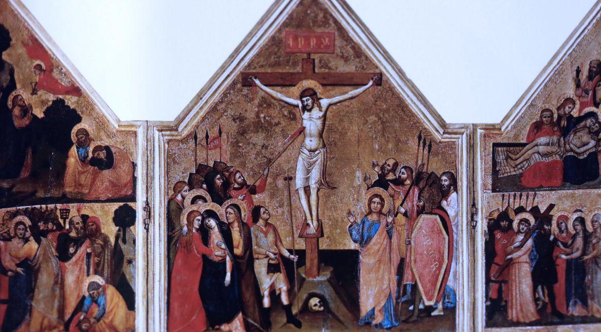 1360-90, Crucifixión y escenas de la Pasión de Cristo del Maestro de la Predela de Ashmolean (Pinacoteca del Vaticano)