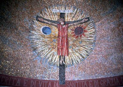 1970-86, Jesucristo crucificado de Trento Longaretti