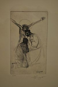 1970, Cristo crucificado (boceto) de Trento Longaretti