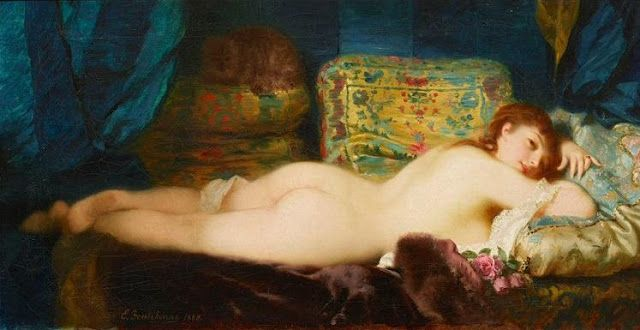 Odalisca de Charles Edouard Boutibonne (Francia, 1816-1897)