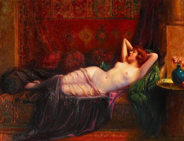 La grande odalisque de Delphin Enjolras (Francia, 1857-1945)