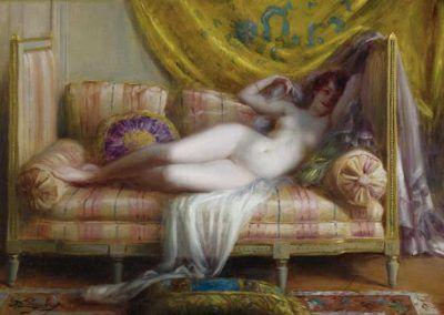Odalisque de Delphin Enjolras (Francia, 1857-1945)