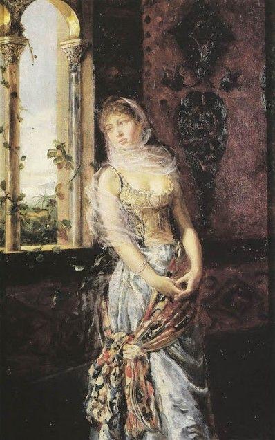 Odalisca de Fabio Fabbi (Italia, 1861-1946)