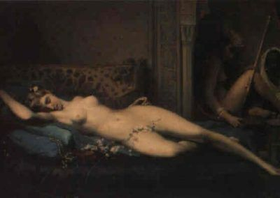 Odalisca de Félix Auguste Clement (Francia, 1826-1888)