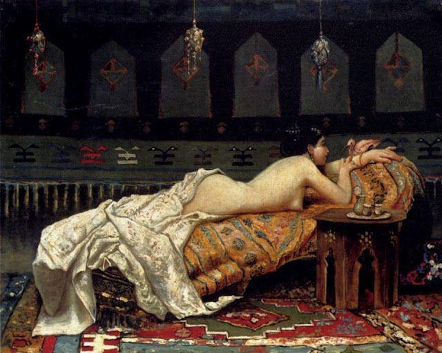 Odalisque de Francesco Paolo Michetti (Italia, 1851-1929)