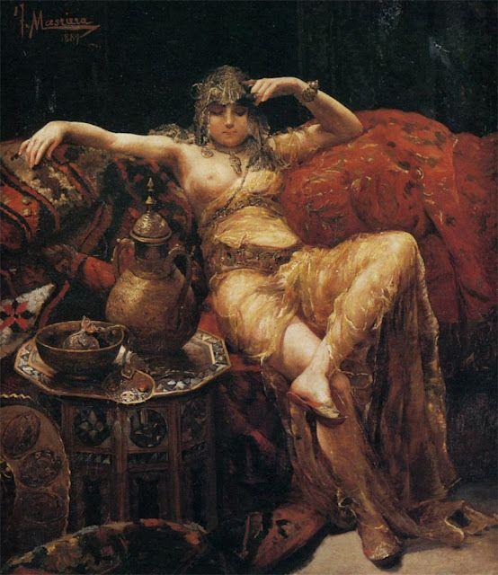 Odalisca de Francisco Masriera y Manovens (España, 1842-1902)