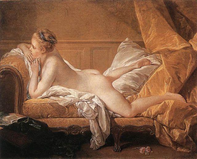 Blond odalisque de François Boucher (Francia, 1703-1770)