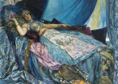 La princesse bleue de Georges Antoine Rochegrosse (Francia, 1859-1938)