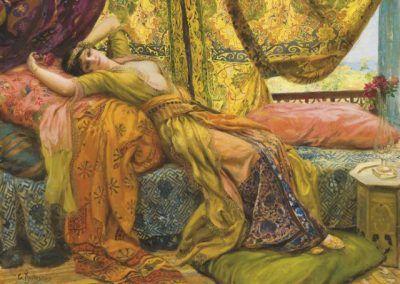Reclining beauty de Georges Antoine Rochegrosse (Francia, 1859-1938)