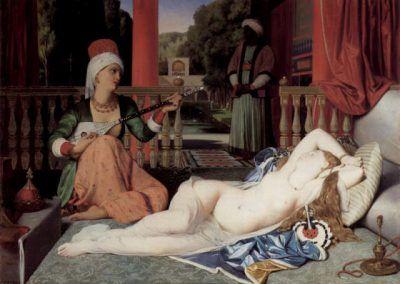 Odalisca con esclavo de Jean Auguste Dominique Ingres (Francia, 1780-1867)