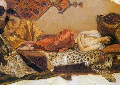 Odalisque de Jean Joseph Benjamin Constant (Francia, 1845-1902)