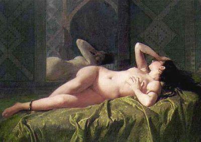 Odalisca de José María Bernardo Fortuny y Carbó (España, 1838-1874)