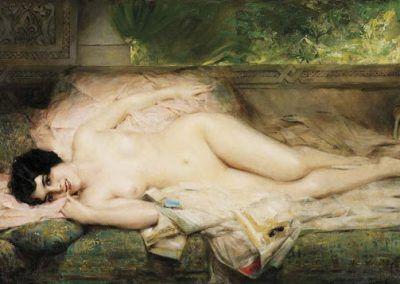 Oriental nude de Leon François Comerre (Francia, 1850–1916)