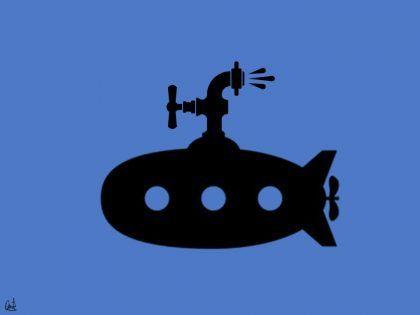 Submarino hidráulico, pintura digital de David Pérez Pol