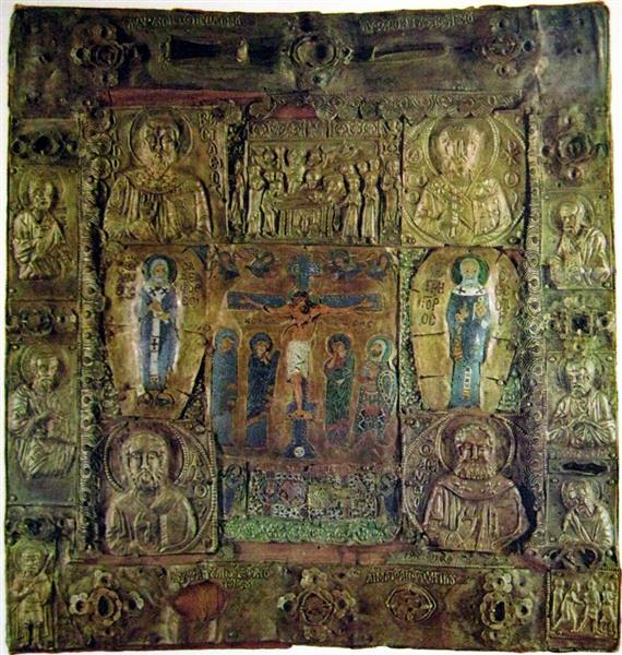 1050, Icono con la Crucifixion de Cristo (anónimo) (Museo del Hermitage)