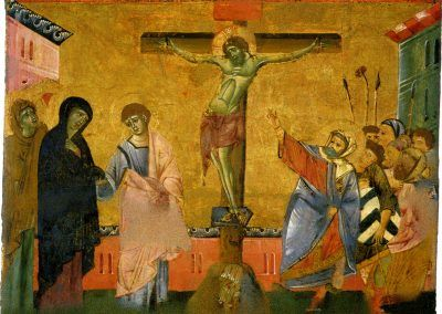 1270-80, La crucifixion de Cristo de Guido de Siena (Pinacoteca Nacional de Siena)