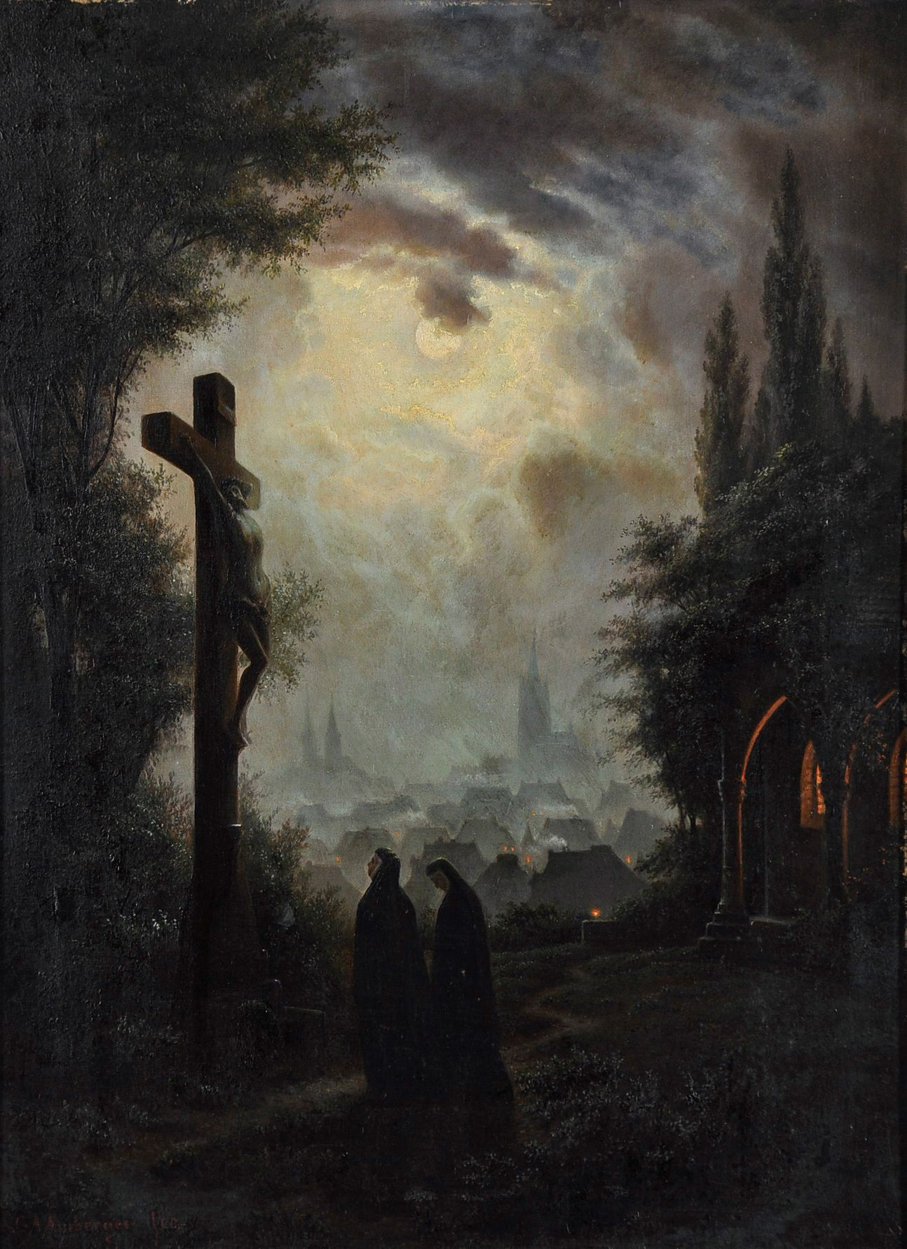 1870, La Cruz en la media noche de Gustav Amberger