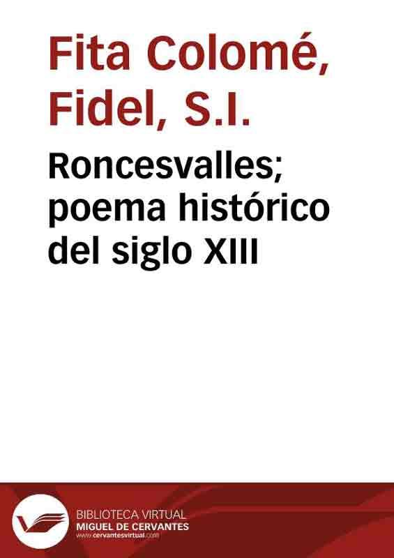 Alabanzas al Instituto de Caridad de Roncesvalles, anónimo, Siglo XIII
