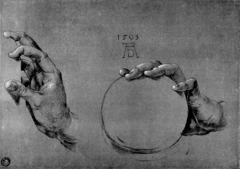 Estudio de manos de Albert Durero