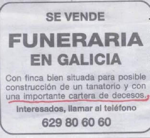 Se vende funeraria