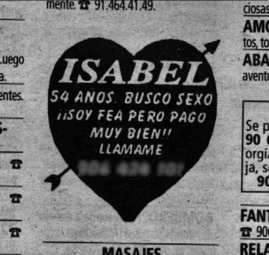 Isabel - Anuncios por palabras nº 15