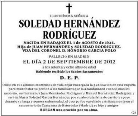 Soledad Hernández - Anuncios por palabras nº 31