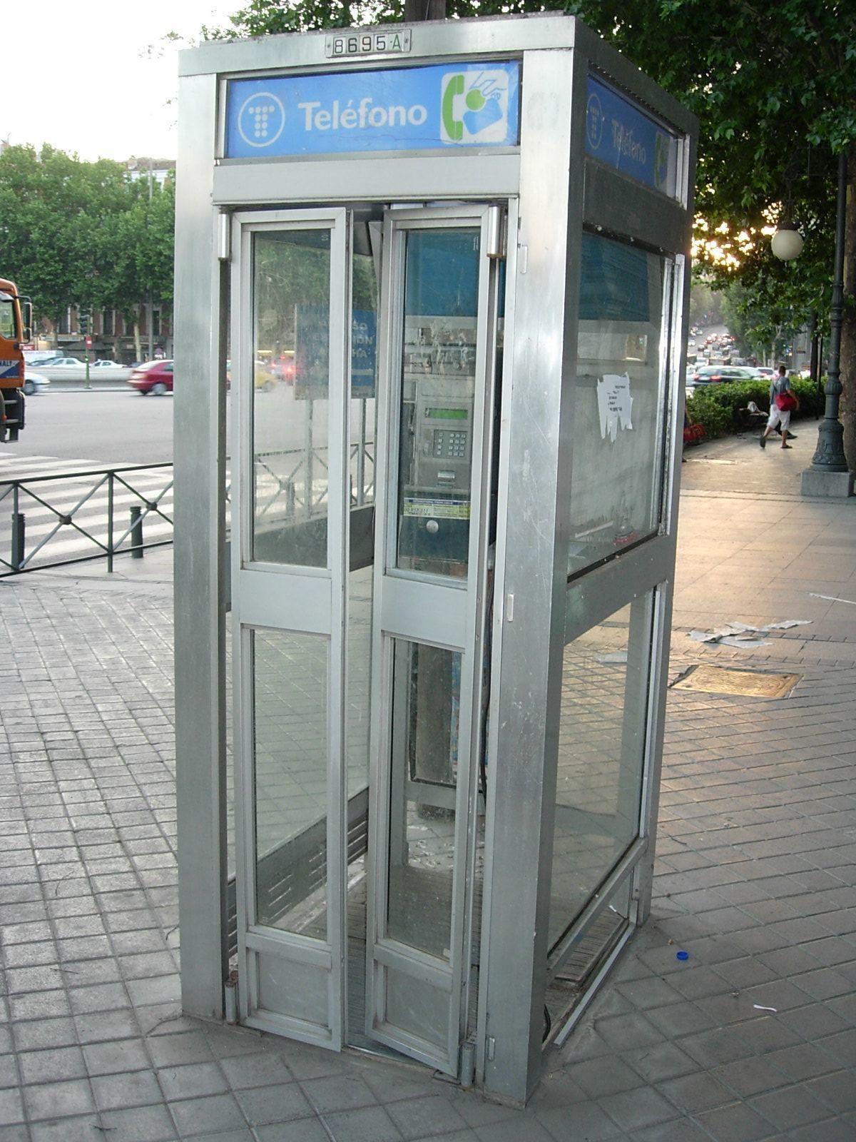 Las cabinas de teléfono