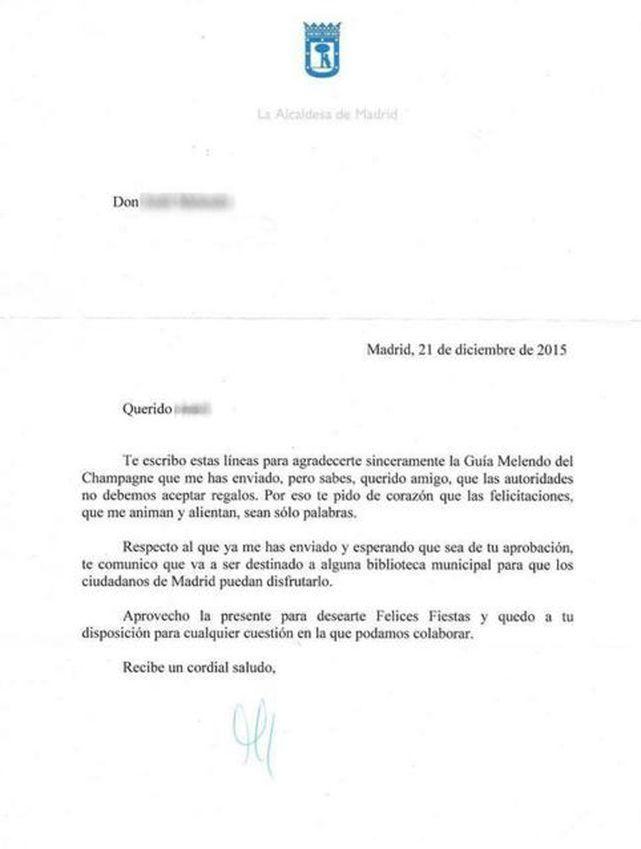 Carta ética de Manuela Carmena